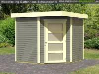 Karibu Woodfeeling Gartenhaus Schwandorf 5 terragrau 19 mm
