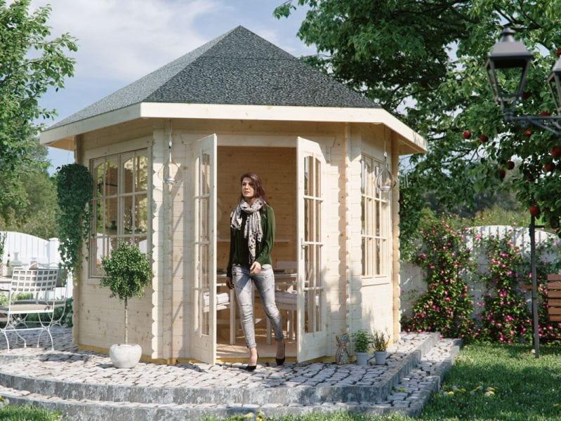 Skan Holz Blockbohlenhaus Madeira 2, 350 x 303 cm