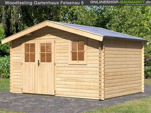 Woodfeeling Gartenhaus 38 mm Felsenau Gr. 5