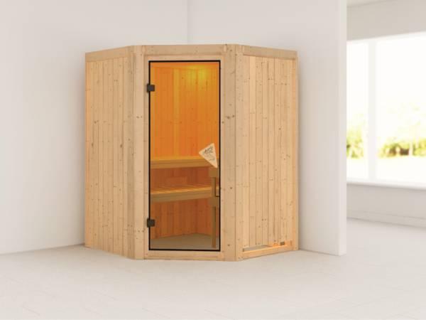 Larin - Karibu Sauna ohne Ofen - ohne Dachkranz -