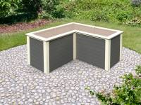 Karibu Hochbeet L Form terragrau 28 mm