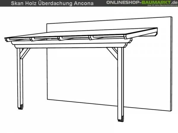 Skan Holz Terrassenüberdachung Ancona 434 x 250 cm Leimholz