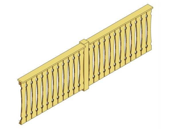 Skan Holz Brüstung für Pavillons 335 cm Balkonschalung