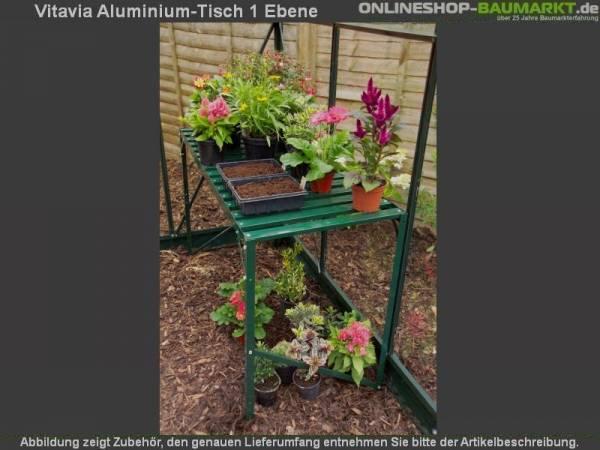 Vitavia Aluminium-Tisch 1 Ebene grün