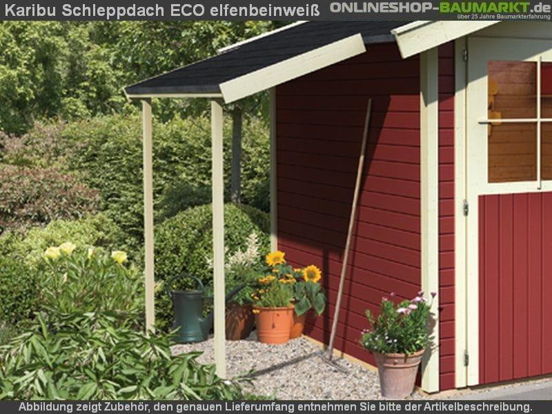 karibu schleppdach eco elfenbeinwei 30519 62120. Black Bedroom Furniture Sets. Home Design Ideas