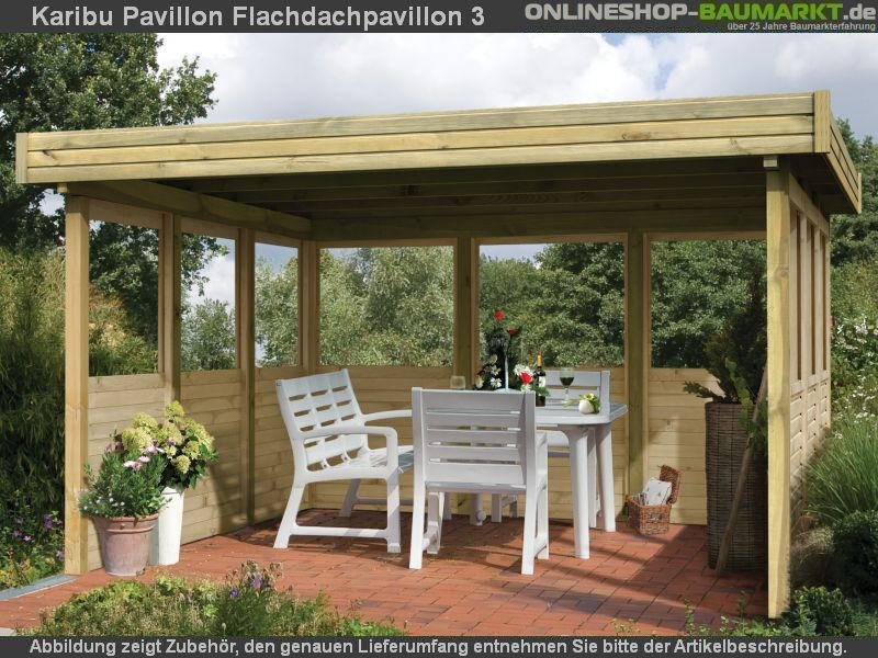 karibu 4 eck pavillon eco flachdachpavillon 3 kompakter 4 eck pavillon eco mit einfach zu. Black Bedroom Furniture Sets. Home Design Ideas