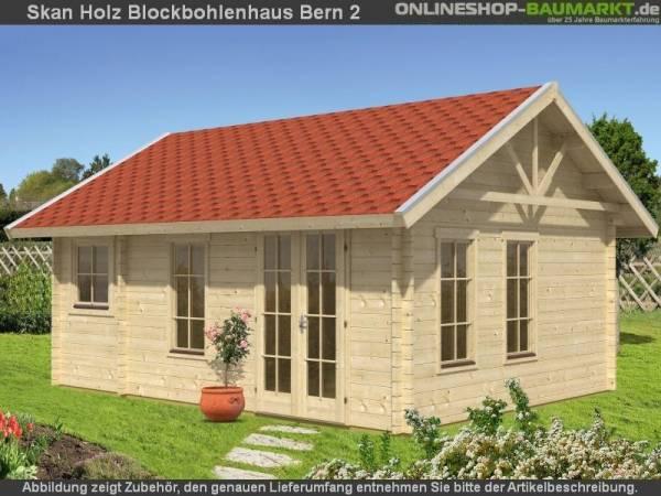 Skan Holz Blockbohlenhaus Bern 2 45plus, 560 x 420 cm